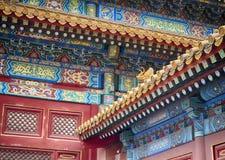 紫禁城建筑学、艺术和装饰品,北京,中国 库存照片