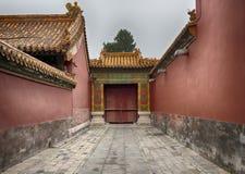 紫禁城建筑学、艺术和装饰品,北京,中国 图库摄影