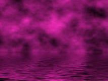 紫红色天空水 库存照片