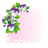 紫罗兰色光的角落 库存图片
