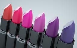 紫罗兰色各种各样的唇膏红色和 向量例证