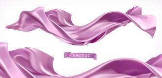 紫罗兰色帷幕 织品3d传染媒介 向量例证
