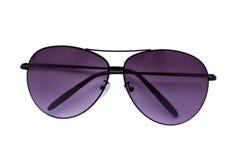 紫罗兰色的太阳镜 库存照片