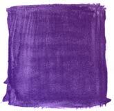 紫罗兰色艺术性的装饰纹理水彩油漆背景,在剪贴薄剪影上写字 免版税库存照片