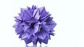 紫罗兰色颜色Origami花  向量例证