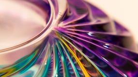 紫罗兰色Murano玻璃宏观摘要 图库摄影