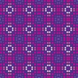 紫罗兰被加点的无缝的样式 在重复的几何背景 向量例证
