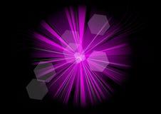 紫色光芒 皇族释放例证