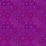 紫色几何对角方形的瓦片马赛克样式背景-无缝的设计 库存例证