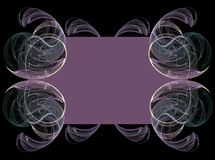 紫色分数维背景 库存图片