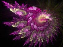 紫色发光 图库摄影