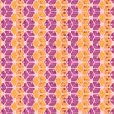 紫色和橙色几何重复的样式 库存例证