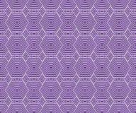 紫色和白色六角形瓦片仿造重复背景 向量例证