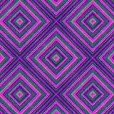 紫色和紫罗兰绘了在一个无缝的样式的菱形 向量例证
