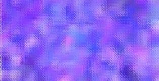 紫色和蓝色五颜六色的马赛克通过玻璃砖背景例证 库存图片