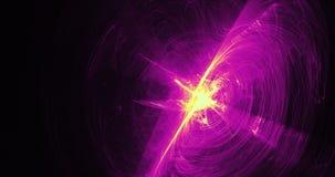 紫色和黄色抽象线曲线微粒背景 图库摄影