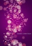 紫色圣诞灯 库存图片