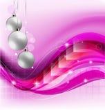 紫色圣诞节背景 库存图片
