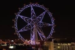 紫色墨尔本星在晚上 免版税图库摄影