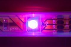 紫色导致的光 免版税图库摄影