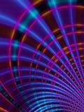紫色弯曲的对角的线路 免版税库存照片