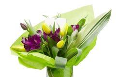紫色德国锥脚形酒杯花 库存照片