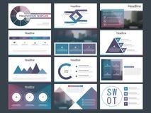 紫色抽象介绍模板, Infographic元素模板平的设计为年终报告小册子飞行物传单设置了 皇族释放例证