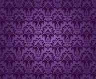 紫色无缝的装饰品 免版税库存图片