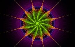 紫色星形转弯 库存照片