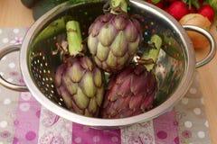 紫色朝鲜蓟 免版税图库摄影