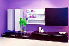 紫色架子 库存照片