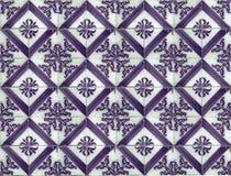 紫色样式瓦片的汇集 库存图片
