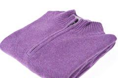 紫色毛线衣 库存图片