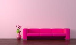 紫色沙发 免版税库存图片