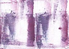 紫色淡紫色被弄脏的水彩图片 免版税库存图片