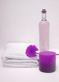 紫色温泉 免版税库存图片
