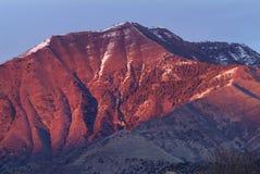 紫色的山 免版税库存照片