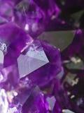 紫色的晶族 免版税库存图片
