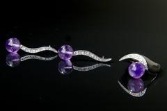 紫色的珠宝 库存照片
