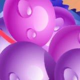 紫色的球 库存图片