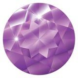 紫色的birthstone 2月 免版税图库摄影