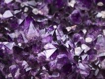 紫色的geode 库存照片