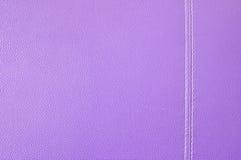 紫色皮革纹理 库存照片