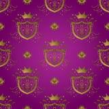 紫色盾 库存图片