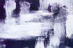 紫色紫罗兰色和白色掠过了油漆背景纹理摘要刷子冲程混乱样式 库存照片