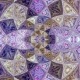 紫色紫罗兰色玻璃花石英作用彩色玻璃 图库摄影