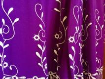 紫色织品 库存照片