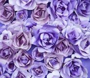 紫色罗斯纸艺术纹理Artbackground 免版税库存照片
