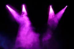 紫色聚光灯 库存照片
