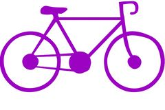 紫色自行车和背景影像 向量例证